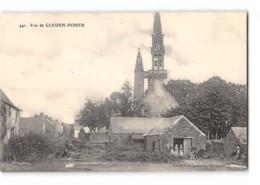 CPA 29 Vue De Cleden Poher L'église - Autres Communes