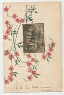 """Collage De Timbres. Fleurs Et Image De La Sainte Famille:""""Et Il Leur était Soumis"""". - Timbres (représentations)"""