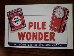 L18/43 Buvard. Pile Wonder - Accumulators