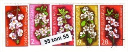 BULGARIA / Bulgarie 1975 Fleures D'arbres Fruitiers 5v – Used/oblit.(O) - Gebraucht