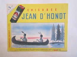 Publicité Buvard Buvards Chicorée Jean D'Hondt Canoé Indien - Alimentaire