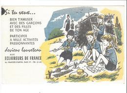 BUVARD  SCOUTS  ECLAIEURS DE FRANCE  ****   RARE  A   SAISIR  **** - Buvards, Protège-cahiers Illustrés