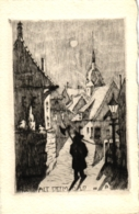 Detmold, Alt-Detmold, Künstlerkarte, Nachtwächter, Verlag Topp & Möller, Um 1910 - Detmold
