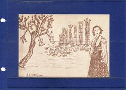 ##(DAN193)-Agrigento 1973- Cartolina 30^ Sagra Del Mandorlo In Fiore Con Annullo Speciale, A Cura Dell'Az. Di Soggiorno - Agrigento