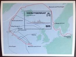 Montserrat 1990 World War II Ships Minisheet MNH - Montserrat