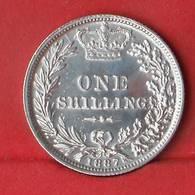 GREAT BRITAIN 1 SHILLING 1887 - 5,66 GRS - 0,925 SILVER   KM# 734,4 - (Nº28090) - 1816-1901: 19. Jh.