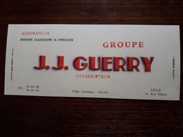 L18/46 Buvard. Assurances. J.J. Guerry. Lille - Banco & Caja De Ahorros