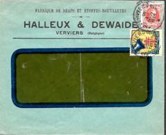 Belgique. TP  200  L. Verviers 2 > ?   1925 + Vignette Antituberculeuse - 1922-1927 Houyoux