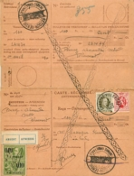Belgique. TP 255 + 282  Carte Récépissé  Chastre-Villeroux  Absent, Retour, Impayé  1930    Trous D'archive - 1922-1927 Houyoux