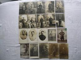 Lot De 20 Carte-photos - Prisonniers De Guerre 14-18 , Camp De Bottrop Et Munster. - Guerre 1914-18