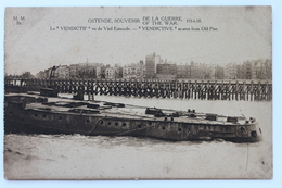 Le VENDICTIF Vu Du Vieil Estacade / VENDICTIVE As Seen From Old Pier / Ostende, 1914-18, België Belgique - Oostende