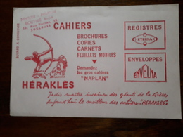 Buvard. Herakles. Papeterie , Philatelie Bouthié à Toulouse - Stationeries (flat Articles)