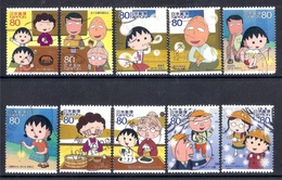Japan 2010 - Animation Hero And Heroine - Series 14 - Chibi Maruku-chan     1,3 Million Issued - 1989-... Emperador Akihito (Era Heisei)