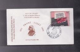 Enveloppe Exposition Philatélique  FERANZ LISZT  Octobre 1986 93 NOISY LE GRAND - Autres Collections