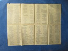 40 60 POPULAIRE PROPAGANDE CHANTEURS DE RUE PARTITION RECUEIL SUCCÈS DE LA RADIO 1959-1960 - Autres