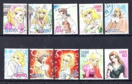 Japan 2011 - Animation Hero And Heroine - Series 16 - Berusaiyu No Bara 1,5 Million Issued - 1989-... Emperador Akihito (Era Heisei)