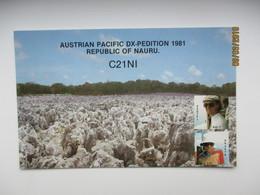 NAURU , AUSTRIAN PACIFIC DX PEDITION 1981 ,  QSL CARD ,0 - Nauru