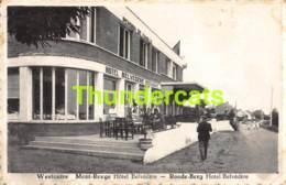 CPA WESTOUTRE MONT ROUGE HOTEL BELVEDERE ROODE BERG - Heuvelland