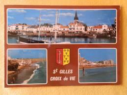 Dep 85 , Cpm  ST GILLES CROIX DE VIE , V.8823 , Le Port De St Gilles , Les Plages  (115) - Saint Gilles Croix De Vie