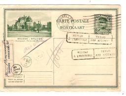 PR6378/ Entier CP Kémpi 35 C Brugge-Bruges C.BXL 1930 Adresse Au Verso ? Griffe Retour étiq.Inconnu - Tarjetas Ilustradas