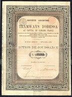 BE - S.A. TRAMWAYS D'ODESSA - Action De JOUISSANCE - 21.000 EA - 1881. - Railway & Tramway