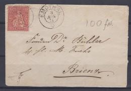 SUISSE 1871:    Lettre Mignonnette De Emdthal à Brienz - Brieven En Documenten