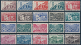 ANDORRA FR. 1944-46 Yvert 100-118, Definitiva 20v** Completa MNH - Neufs