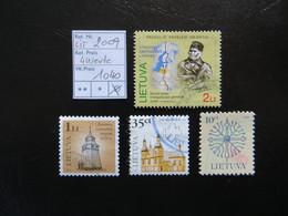 "2009  "" 4 Werte ""  Gestempelt  LOT 1040 - Litauen"
