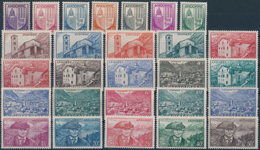 ANDORRA FR. 1944-46, Yvert  93-118, Definitiva 27v** Completa MNH - Neufs