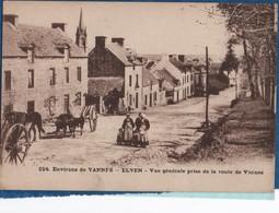 56-  ELVEN - Vue Prise De Lla Route De Vannes  N° 054    Ed Breger    CPA - Elven
