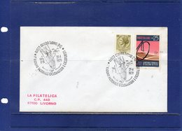 """##(DAN193)-Italy 1979- """" 1st Meeting Of National Cyclists-Gualdo Tadino """"  Special Cancel On Cover To Livorno - Ciclismo"""