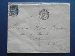 OBLITERATION CAD SAINT ST SULPICE LA POINTE (TARN) 1886 Sur ENVELOPPE AFFRANCHIE SAGE 15c Pour LAVAUR - Postmark Collection (Covers)