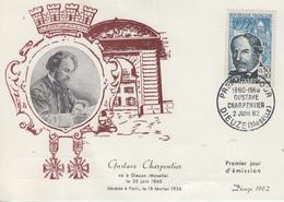 Carte  Maximum  1er  Jour   FRANCE   Gustave  CHARPENTIER     DIEUZE   1962 - 1960-69