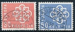 347-348 / 679-680 Europa 1959 Sauber Gestempelte Serie - Usados