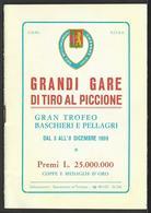 Brochure Delle Grandi Gare Di Tiro Di Tiro Al Piccione - Sporting Club Sanremo - Programmi