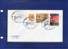 """##(DAN193)-Italy 1980- """" 63rd Giro D'Italia - Arrival Of The Cycling Stage Gatteo  """"  Special Cancel On Cover To Livorno - Ciclismo"""
