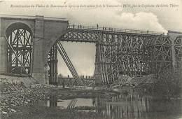 -dpts Div.-ref-AG511- Haut Rhin - Dannemarie -  Reconstruction Viaduc Detruit En 1870 - Verso Marcophilie Secrion N°29 - - Dannemarie