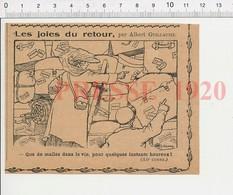 Presse 1920 Ancienne étiquette De Voyage Malle Espalion Trouville-sur-Mer Fontaine-les-Cornus Villecante Les Bains 216E4 - Old Paper