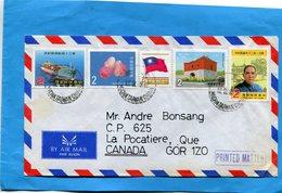 Marcophilie-TAIWAN-3 Letters- -lettres  >CANADA+années 1982+3-beaux Affranchissements Composés - 1945-... République De Chine