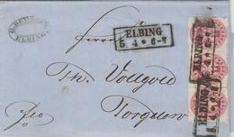Allemagne Prusse Lettre Elbing 1867 - Allemagne