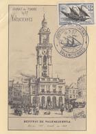 Carte  Locale  1er  Jour   JOURNEE  Du   TIMBRE      VALENCIENNES    1957 - Journée Du Timbre