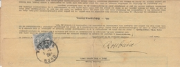 107 1c BLANC Seul S/ TAXES REVENU PROPRIÉTÉS BÂTIES - ROUBAIX 5/29 - 1900-29 Blanc