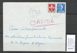 Algerie - Lettre  - Cachet Hexagonal IFIGHA SAS -  Marcophilie - Algérie (1924-1962)
