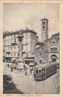 MILANO-SAN BABILA E CORSO VENEZIA-TRAM IN PRIMO PIANO-CARTOLINA VIAGGIATA IL 22-12-1931 - Milano