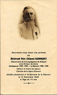 St Bernard Avis Deces Père Clement Raimbault Né Henrichemont Cher . Leproserie. Leper Colony . Lèpre. Lépreux - La Réunion