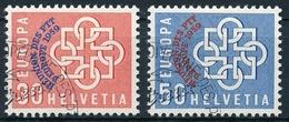 349-350 / 681-682 Europäische PTT-Verwaltungen Konferenz 1959 Serie Mit Einheitlichem ET-Eck Stempel - Usados