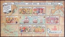 Montserrat 1992 Discovery Of America Birds Sheetlet MNH - Montserrat