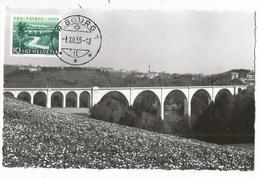 HELVETIA 10C CARTE MAXIMUM FRIBOURG 1.XII.1955 - Cartes-Maximum (CM)