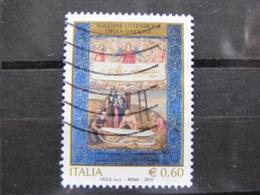 *ITALIA* USATO 2010 - OSTENSIONE DELLA SINDONE - SASSONE 3159 - LUSSO/FIOR DI STAMPA - 6. 1946-.. Repubblica