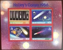 Montserrat 1986 Halley's Comet Sheetlet MNH - Montserrat